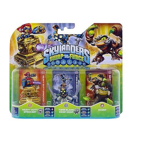 Figurine Skylanders : Swap Force - Scorp + Twin Blade Chop Chop + Heavy Duty Sprocket