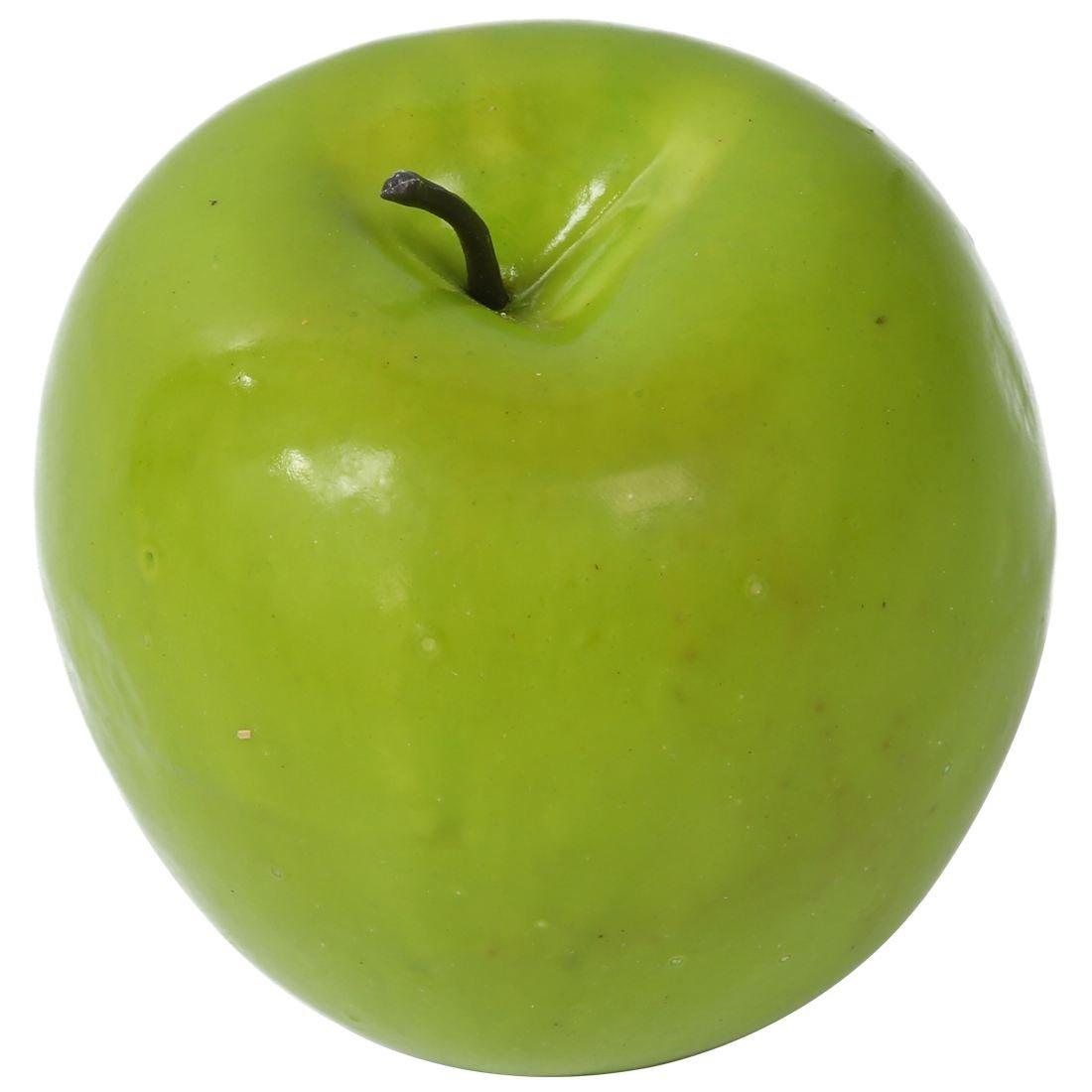 TOOGOO(R) 12 pezzi di grandi dimensioni verde artificiale Frutta mela di plastica del partito della casa Decor decorativi