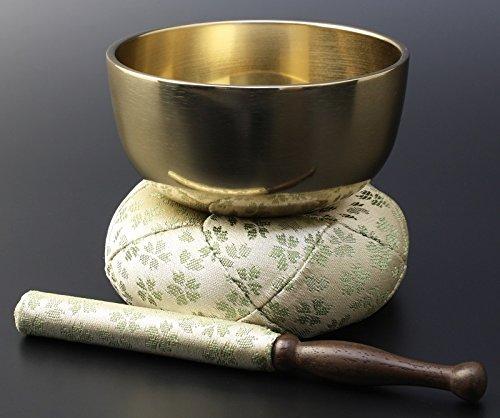 京仏壇はやし モダン仏具 日和 ( ひより ) りんセット フッ素加工 3寸 / 緑 B00N4O98DO 緑 緑
