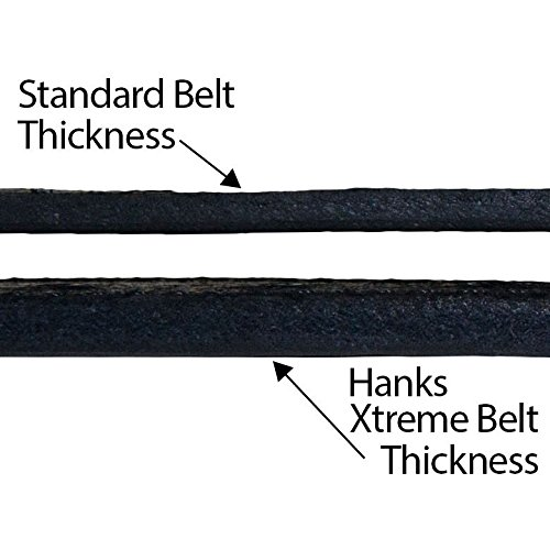 Review Hanks Extreme – Leather Gun Belt For CCW – Concealed Carry – 17oz. Premium Leather Belt – Made in USA – 100-Year Warranty – Black – Size 46