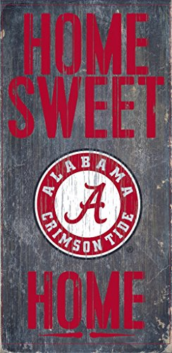 - Alabama Crimson Tide Wood Sign - Home Sweet Home 6''x12''