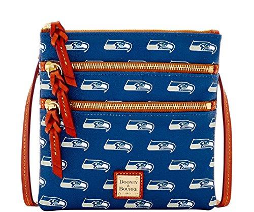 dooney-and-bourke-seattle-seahawks-triple-zip-crossbody-handbag