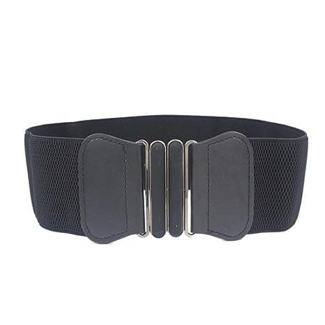 WODISON Mujer Vintage Cinturón Plus Ancho Elástico de Estiramiento ... 87bd281b7dd6