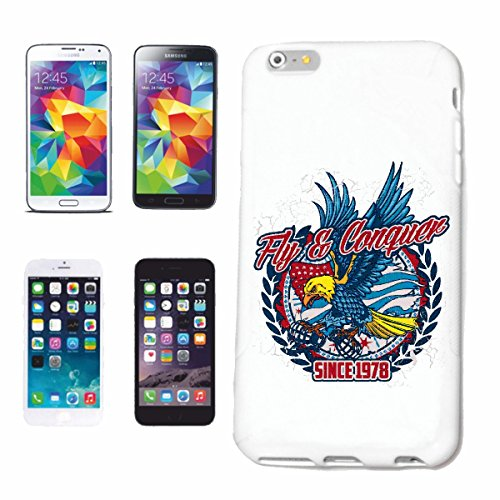 "cas de téléphone iPhone 7S ""FLY & CONQUÉRIR L'AMÉRIQUE EAGLE VULTURE RAPTOR proie EAGLE VULTURE RAPTOR proie BUZZARD"" Hard Case Cover Téléphone Covers Smart Cover pour Apple iPhone en blanc"