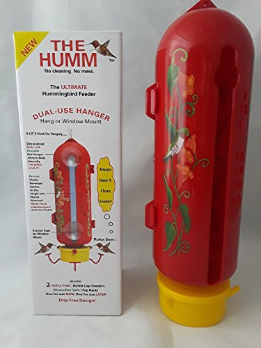 The Humm- Hummingbird Feeder with dual use hanger