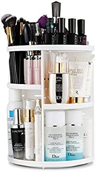 Jerrybox 360 Degree Multi-Function Cosmetic Storage Box (White)