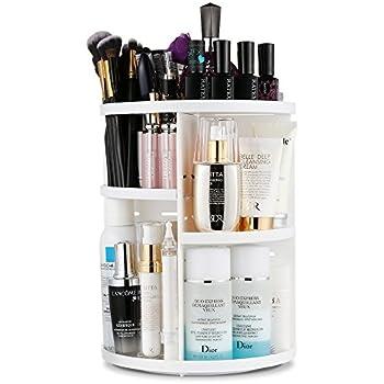 jerrybox 360 degree rotating makeup organizer adjustable multi function cosmetic. Black Bedroom Furniture Sets. Home Design Ideas