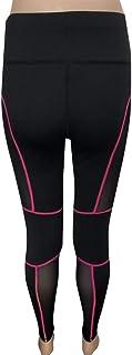Dkings Femmes Pantalons de Yoga, Maille Couture Yoga Pantalon Sports de Plein air Stretch Running Fitness Pantalons