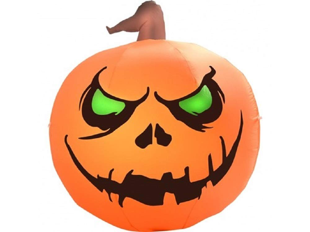 ghi Halloween Inflatable 4' Scary Pumpkin Airblown Holiday Decoration