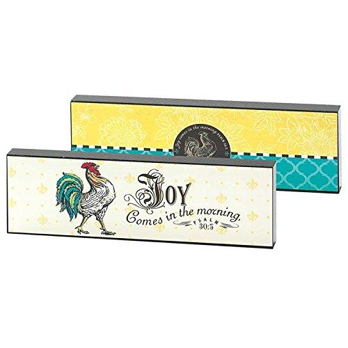 Desk Plaque / Shelf Sitter - Joy Comes in the Morning