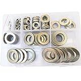 Large Flat Washer Metric screws bolt M5 M6 M8 M10 M12 M14 M16 M18 M20 M22 M24 Assortment Kit,218pcs,Stainless Steel (M5-M24)
