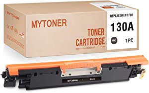 MYTONER Compatible Toner Cartridge Replacement for HP 130A CF350A for MFP M176, M176FN, M177 M177FW (Black, 1-Pack)