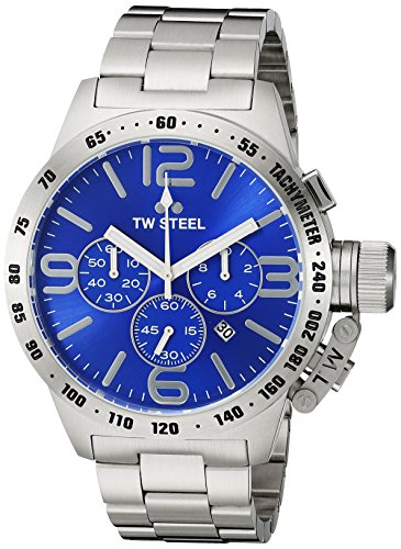 TW Steel Men's CB14 Analog Display Quartz Silver Watch