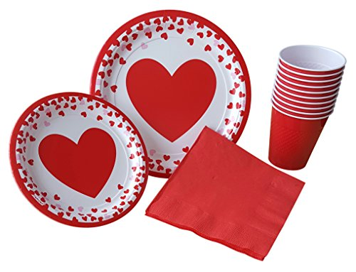 Hearts Lunch Napkins - 9