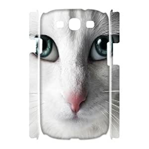 ALICASE Cover Case Cat 3D Diy For Samsung Galaxy S3 I9300 [Pattern-1]