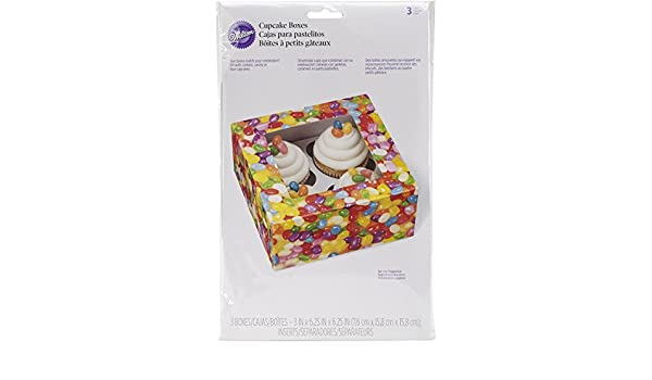 Amazon.com: Wilton 415-2757 4 Count Jelly Bean Cupcake Treat Boxes, Assorted: Kitchen & Dining