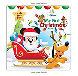 disney baby my first christmas disney touch and feel disney book group disney storybook art team 9781368007252 amazoncom books - Babys First Christmas Photos