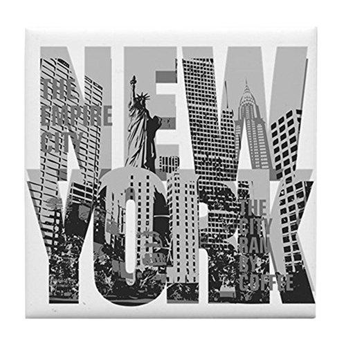 CafePress - New York - Tile Coaster, Drink Coaster, Small Trivet