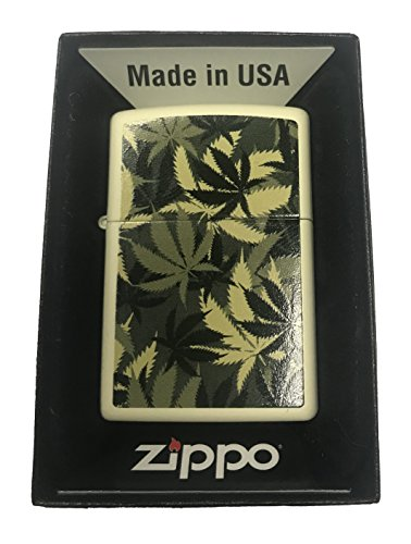 Zippo Custom Lighter - Weed Marijuana Pot Leaf Camo Camoflage Double-Sided Design