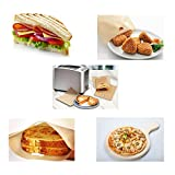 Toaster Bags Willceal,Pack of 6,Beige Non Stick