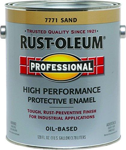 RustOleum 7771402 Protective Enamel Paint, Sand - Gallon (Rust Oleum Gallon)