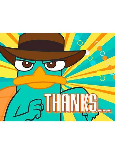 Disney Phineas and Ferb Agent P Thank-You Notes (8 count) Party Accessory ()