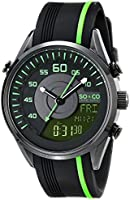 SO & CO New York  Men's 5044.5 SoHo Quartz Analog Digital Rubber Strap Watch