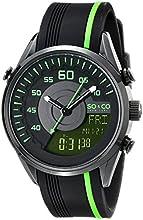 SO & CO New York  Men's 5044.5 SoHo Quartz Analog Digital Rubber Strap Watch