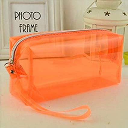 Clear Transparent PVC Simple Portable Large Travel Cosmetic Bag Pencil Case Pen Pouch Holder Organizer with Zipper for Supplies Stationary Phone ...