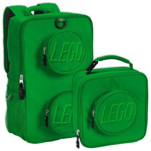 LEGO Brick Backpack & Lunch Bag Set - Green