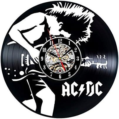 Gullei.com AC DC Vintage Handmade Vinyl Record Clock Gift