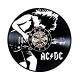 AC DC Vintage Handmade Vinyl Record Clock Gift For Sale