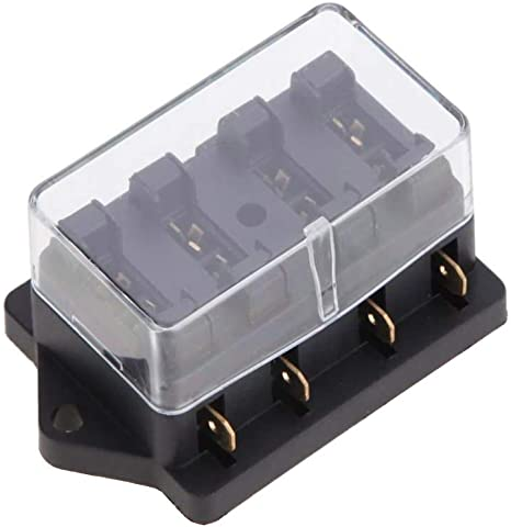 esupport car truck 4 way circuit standard ato blade fuse box block holder 12v 24v  bluefire 12 way 30a 32v blade fuse box