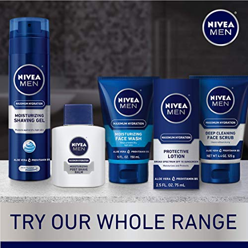Nivea Men Maximum Hydration Moisturizing Post Shave Balm, No Greasy Feel, 3.3 Fl. Oz Bottle (Pack of 3), Package May Vary