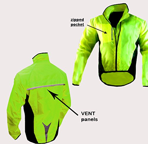 HILTON ENTERPRISES CYCLING JACKET WATERPROOF HIGHLY VISIBLE (X LARGE)