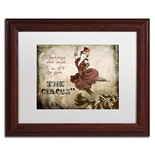 Join The Circus by Color Bakery, White Matte, Wood Frame 11x14-Inch