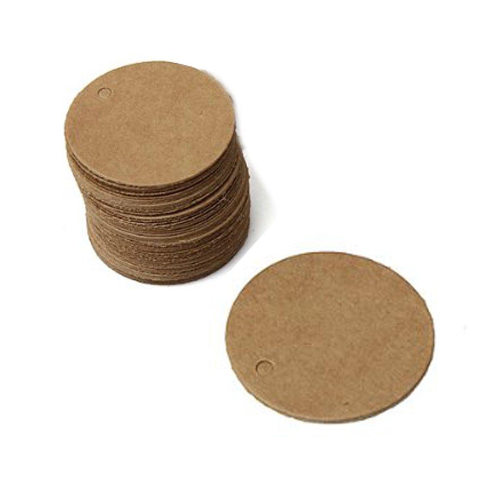 eKunSTreet ® 100 Stück Rustikal Braun 40mm Runde Kleine Geschenk ...