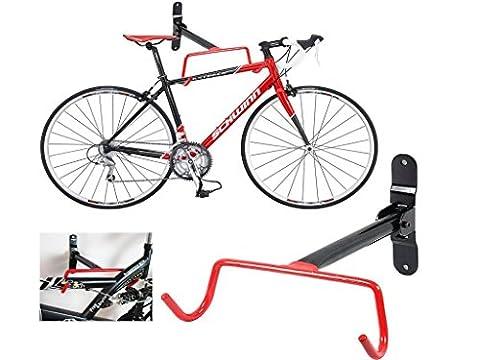 GESU Wall Bicycle Bike Storage Rack Mount Hanger Hook Holder with Screws (In Door Bike Stand)