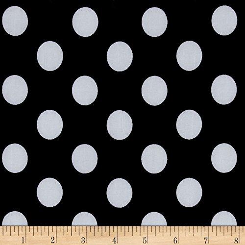 (Fabric Stretch ITY Jersey Knit Dot Black and White Yard)