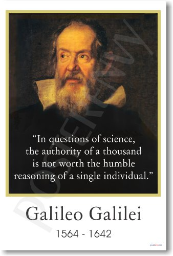 Galileo Galilei - In Questions of Science - Famous Person Classroom Poster