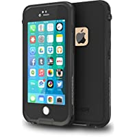 CellEver iPhone 6 / 6s Case Waterproof Shockproof IP68 Certified SandProof SnowProof Full Body Protective Cover Fits Apple iPhone 6 and iPhone 6s (4.7) - (Black)
