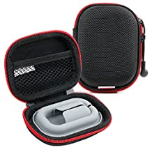 Hard EVA 'Shell' Storage Case / Bag with Protective Silicone Padding Compatible with SOUNDMAGIC E50S Earphones - by DURAGADGET