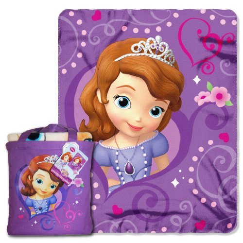 Disney's Sofia The First, ''Royalty Awaits'' Silk Touch Throw Blanket with Reusable Canvas Tote Set, 40'' x 50'', Multi Color by Disney