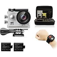 Legazone® 4K HD Action Camera 2.4G RF Remote Control 12MP Sports Video WIFI 170° Fisheye Cam Helmet, Underwater Snorkelling Camera Camcorder (Silver)