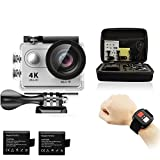 Cheap Legazone 4K HD Action Camera 2.4G RF Remote Control 12MP Sports Video WiFi 170° Fisheye Cam Helmet, Underwater Snorkelling Camera Camcorder (Silver)