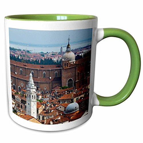 3dRose Danita Delimont - Venice - Bell Tower view, San Marco Square, Venice, Italy - EU16 TEG0414 - Terry Eggers - 15oz Two-Tone Green Mug - Marco San Square Venice Italy