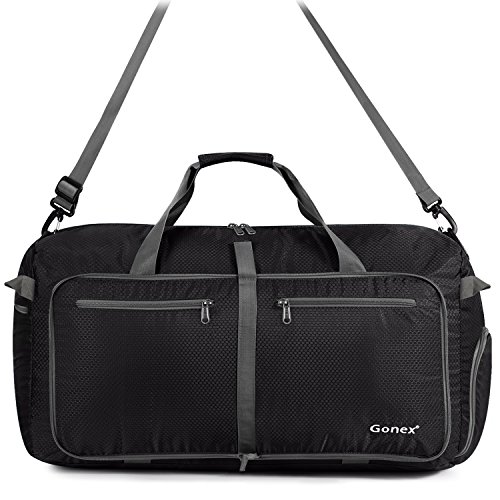cdba7a464 Gonex 100L Packable Travel Duffle Bag, Extra Large Luggage Duffel (Black)  by Gonex