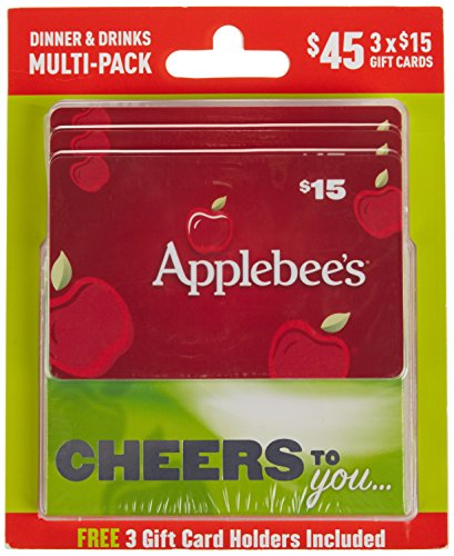 Applebee's Dinner and Drinks Gift Cards, Multipack of 3 - ()