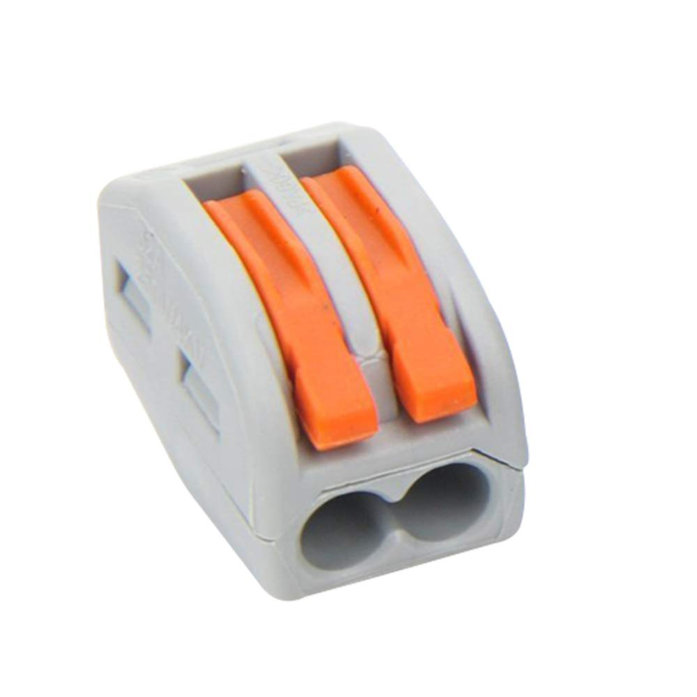 In This Space 3 Port Lever-Nut Conductor Compact Wire Connectors PCT-213 Terminal Block Wire Push Cable Connector (50 Pack, 3 Port)