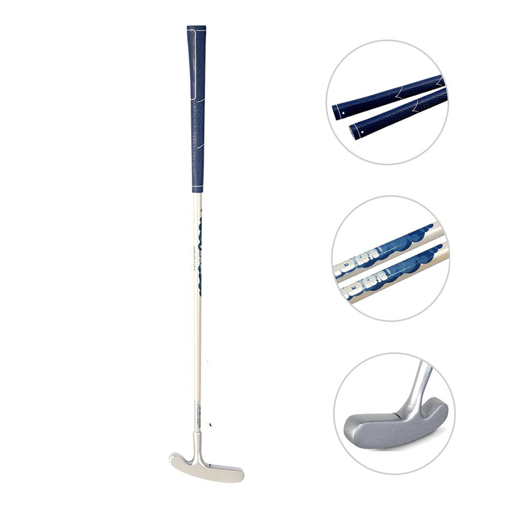 Acstar Two Way Junior Golf Putter Kids Putter Both Left and Right Handed Easily Use 3 Sizes for Ages 3-5 6-8 9-12(Silver Head+White Shaft+Blue Grip,27 inch,Age 6-8) by Acstar